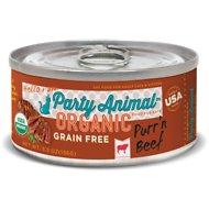 Party Animal Purr'n Beef Recipe Grain-Free Canned Cat Food, 5.5-oz, case of 24