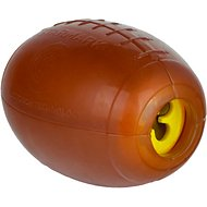 Starmark Treat Dispensing Football Dog Toy, Medium