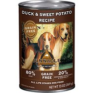 Pinnacle Grain-Free Duck & Sweet Potato Recipe Canned Dog Food, 13-oz, case of 12