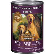 Pinnacle Grain-Free Trout & Sweet Potato Recipe Canned Dog Food, 13-oz, case of 12