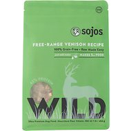 Sojos Wild Free-Range Venison Recipe Grain-Free Freeze-Dried Dog Food, 1-lb bag