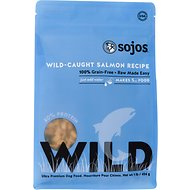 Sojos Wild-Caught Salmon Recipe Grain-Free Freeze-Dried Dog Food, 1-lb bag