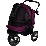 Pet Gear Double No-Zip Pet Stroller, Boysenberry
