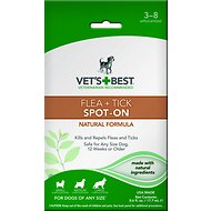 Vet's Best Flea + Tick Spot-On for Dogs, 0.6-oz bottle