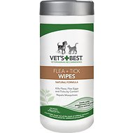 Vet's Best Flea + Tick  Wipes for Dogs & Cats, 50 count