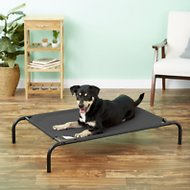 Coolaroo Steel-Framed Elevated Pet Bed, Charcoal, Medium