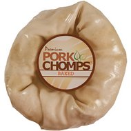 Premium Pork Chomps Baked Donut Dog Treat, 6-in