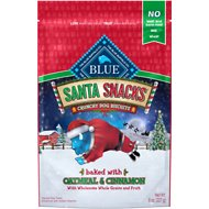 Blue Buffalo Holiday Santa Snacks with Oatmeal & Cinnamon Dog Treats, 8-oz bag