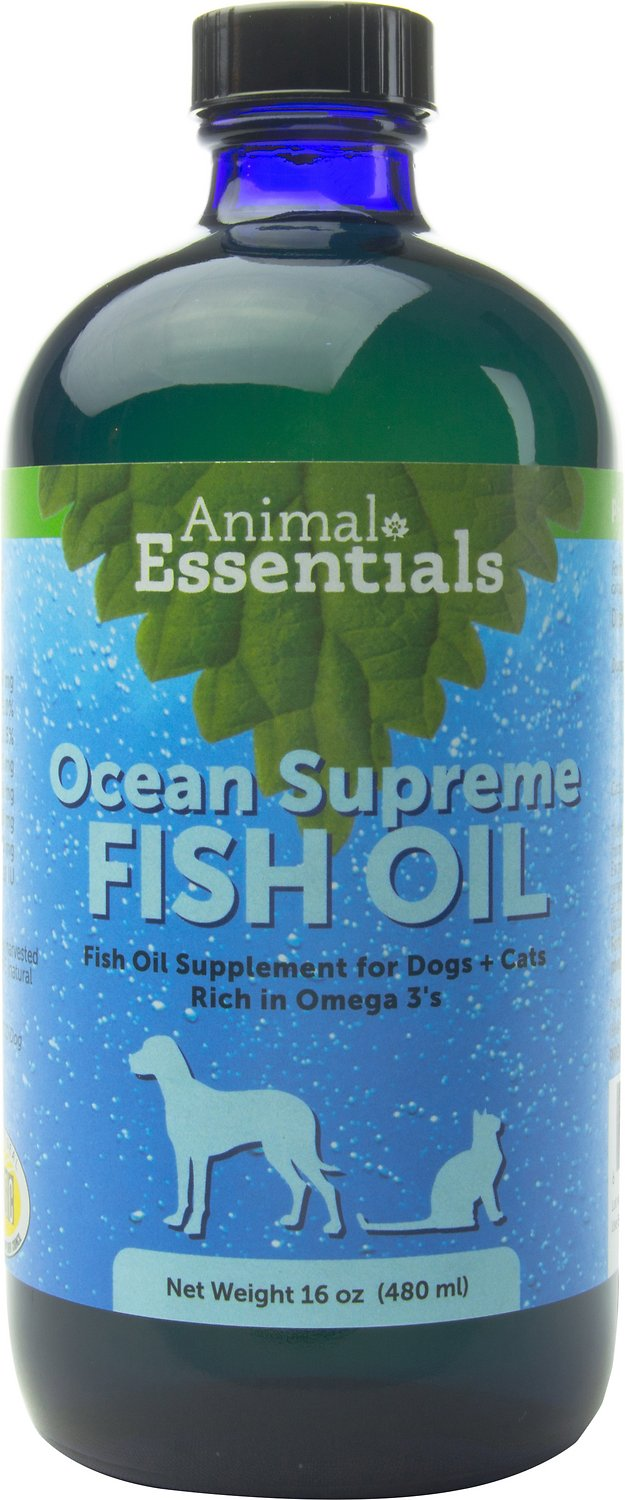 Animal essentials ocean supreme fish oil dog cat for Where does fish oil come from