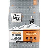 I and Love and You Nude Food Poultry a Plenty Grain-Free Dry Cat Food, 5-lb bag