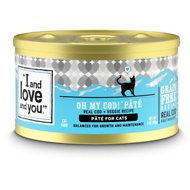 I and Love and You Oh My Cod! Pate Grain-Free Canned Cat Food, 3-oz, case of 24