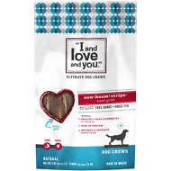 I and Love and You Cow-Boom! Strips Beef Gullet Dog Chews, 6-in, 5 count