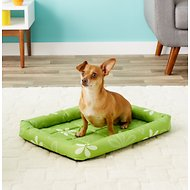 MidWest Paradise Teflon Fabric Protector Pet Bed, Green Floral, 24-inch