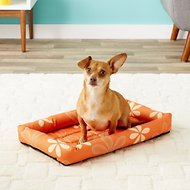 MidWest Paradise Teflon Fabric Protector Pet Bed, Orange Floral, 22-inch