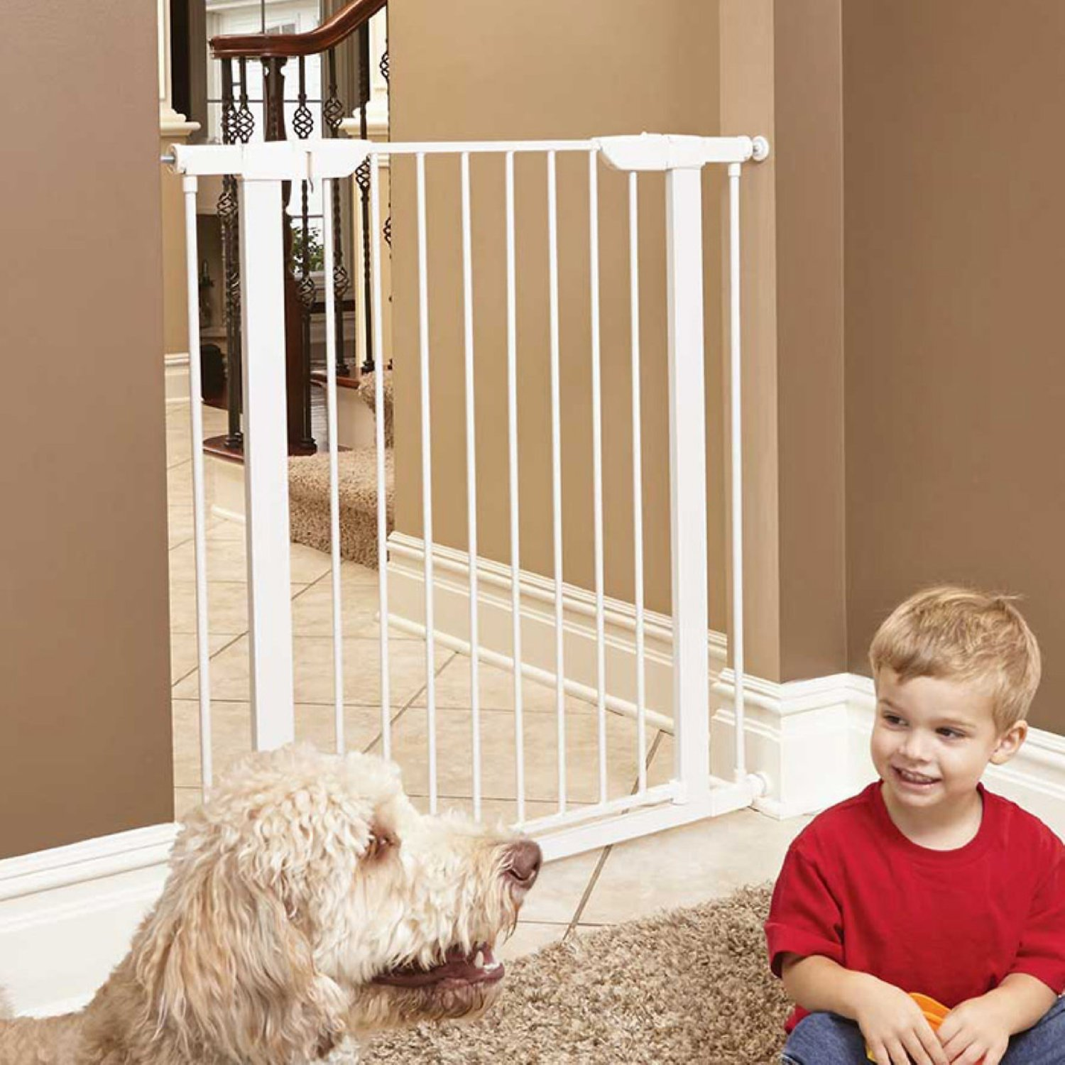"""MidWest 39"""" Steel Pet Gate White Chewy"""