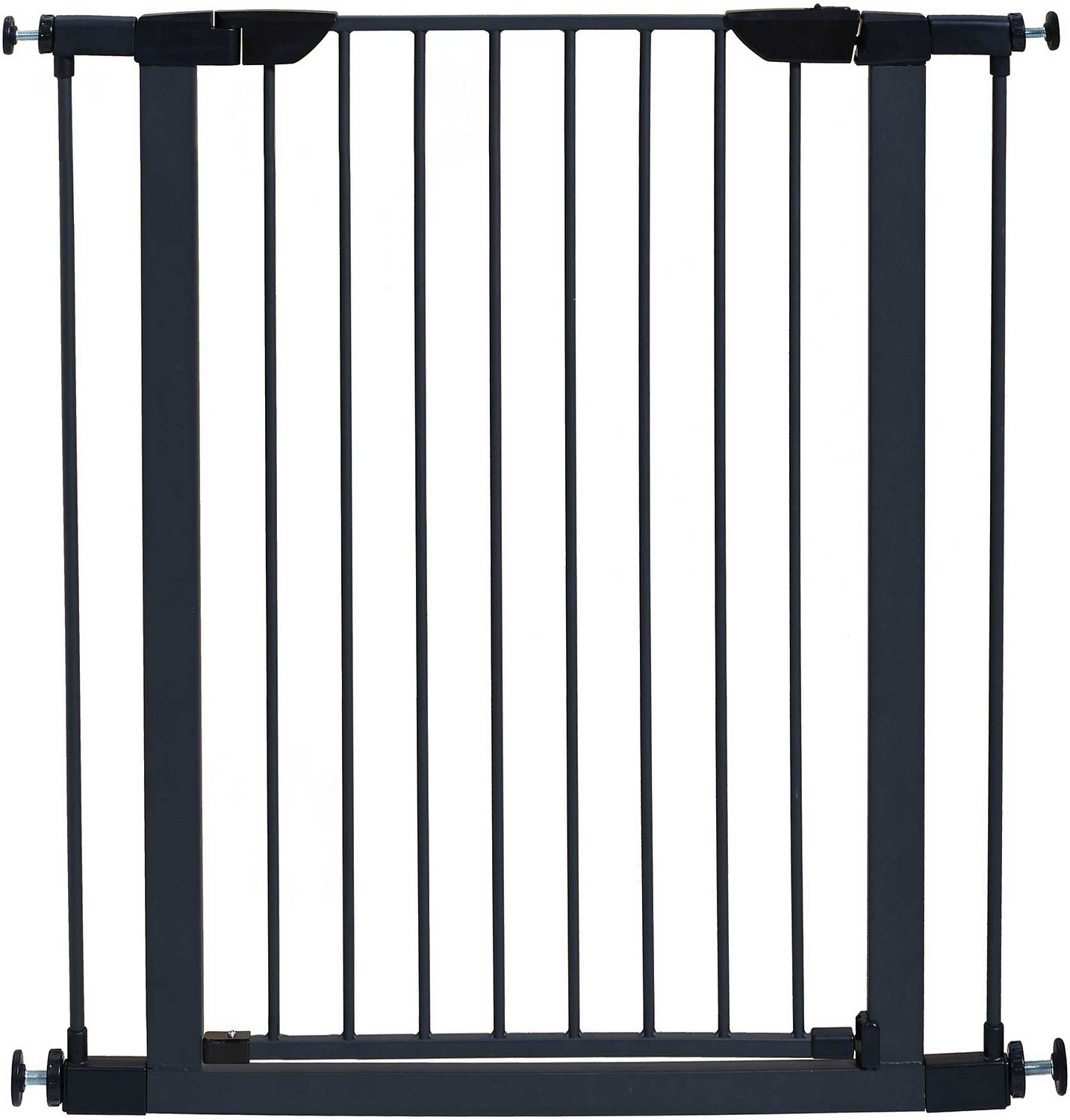 """MidWest 39"""" Steel Pet Gate Graphite Chewy"""