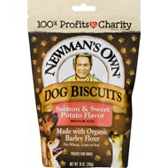 Newman's Own Organics Salmon & Sweet Potato Formula Medium Size Heart Shaped Dog Treats, 10-oz bag