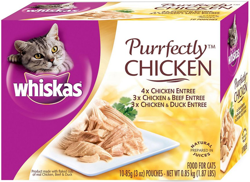 Whiskas Purrfectly Chicken Pouches Variety Pack Cat Food