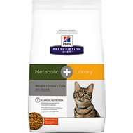 Hill's Prescription Diet Metabolic + Urinary Chicken Flavor Dry Cat Food, 12-lb bag