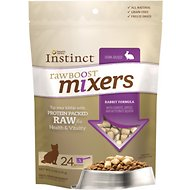 Instinct by Nature's Variety Raw Boost Mixers Grain-Free Rabbit Recipe Freeze-Dried Cat Food Topper, 6-oz bag