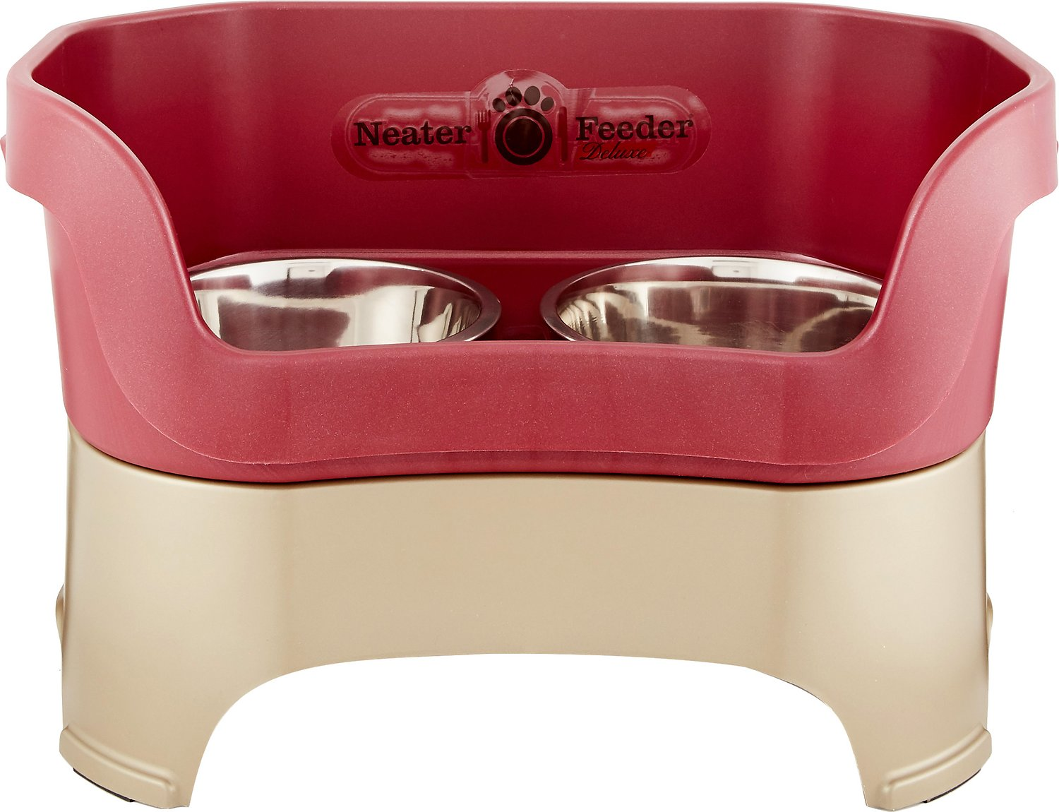 neater feeder elevated dog bowls cranberry