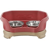 Neater Feeder Elevated Cat Bowls, Cranberry