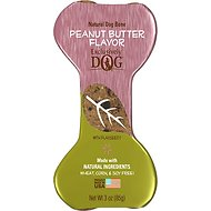 Exclusively Dog Crunchy Bones Peanut Butter Flavor Dog Treats, 3-oz bone