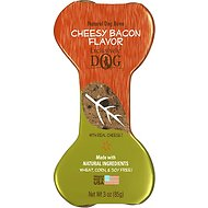 Exclusively Dog Crunchy Bones Cheesy Bacon Flavor Dog Treats, 3-oz bone