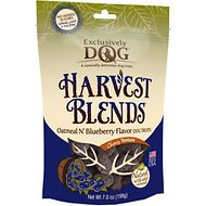 Exclusively Dog Harvest Blends Oatmeal N' Blueberry Flavor Dog Treats, 7-oz bag