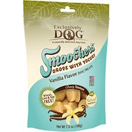 Exclusively Dog Smoochers Yogurt Drops Vanilla Flavor Dog Treats, 7-oz bag