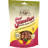 Exclusively Dog Smoochers Yogurt Drops Banana & Strawberry Flavor Dog Treats, 7-oz bag