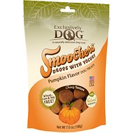 Exclusively Dog Smoochers Yogurt Drops Pumpkin Flavor Dog Treats, 7-oz bag