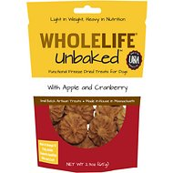 Whole Life Unbaked Apple & Cranberry Flavor Freeze-Dried Dog Treats, 2.3-oz bag