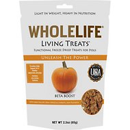 Whole Life Living Treats Beta Boost with Pumpkin Freeze-Dried Dog Treats, 2.3-oz bag