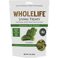 Whole Life Living Treats Go Green with Kale Freeze-Dried Dog Treats, 2.3-oz bag