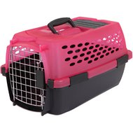 Petmate Jelly Vari Translucent Kennel for Dogs & Cats, Pink/Black, Small