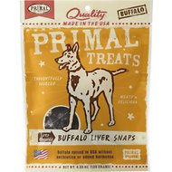 Primal Buffalo Liver Snaps Dry Roasted Dog Treats, 4.25-oz bag