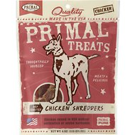 Primal Chicken Shredders Dry Roasted Dog Treats, 4-oz bag
