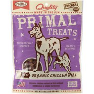 Primal Organic Chicken Nibs Jerky Dog & Cat Treats, 4-oz bag