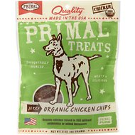 Primal Organic Chicken Chips Jerky Dog Treats, 3-oz bag