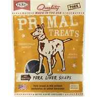 Primal Pork Liver Snaps Dry Roasted Dog Treats, 4.25-oz bag