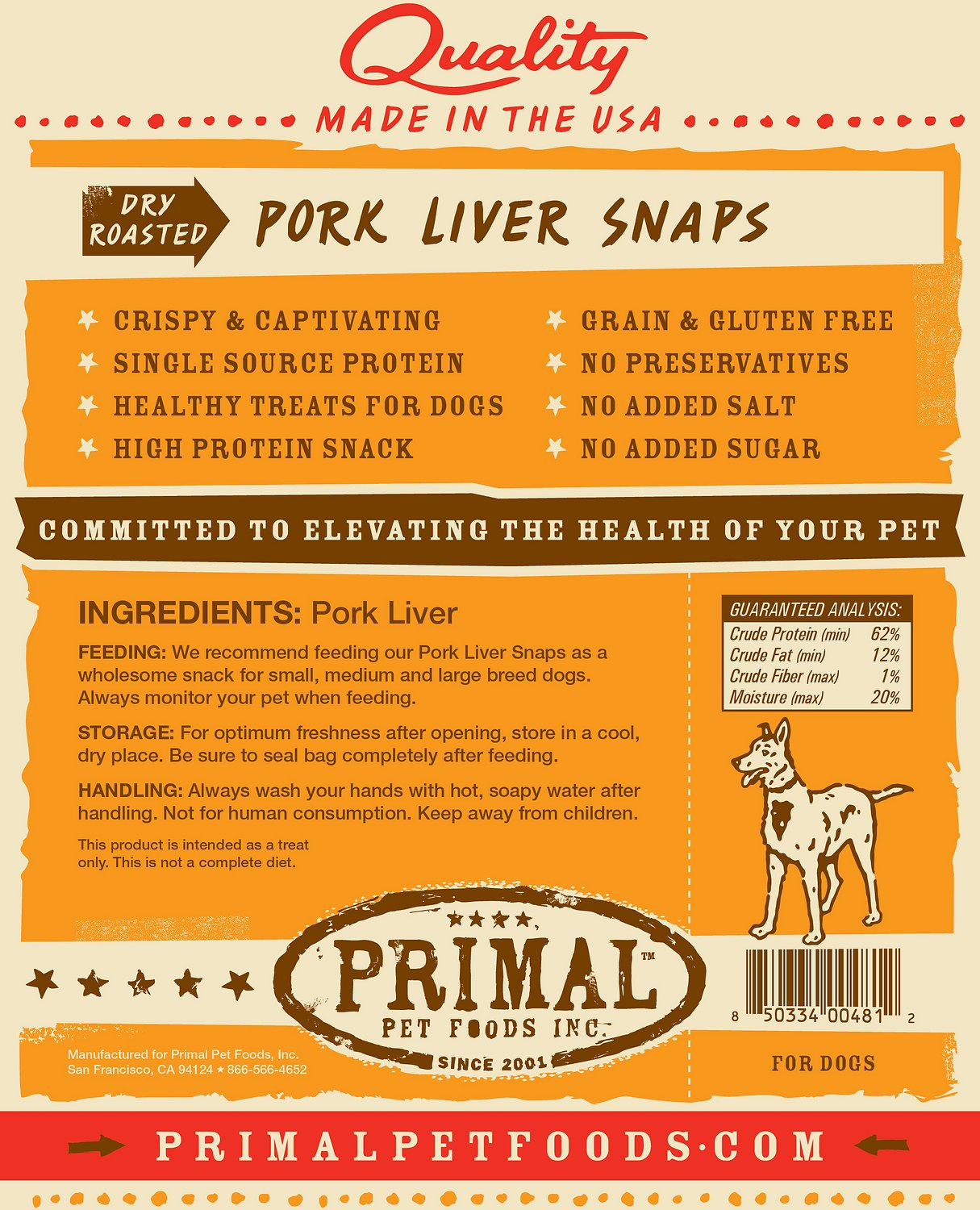 Dehydrated Pork Liver Dog Treats