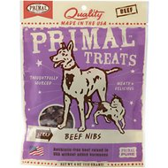 Primal Beef Nibs Jerky Dog & Cat Treats, 4-oz bag