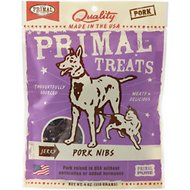 Primal Pork Nibs Jerky Dog & Cat Treats, 4-oz bag