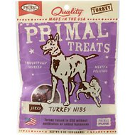 Primal Jerky Turkey Nibs Dog & Cat Treats, 4-oz bag