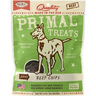 Primal Beef Chips Jerky Dog Treats, 3-oz bag