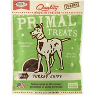 Primal Jerky Turkey Chips Dog Treats, 3-oz bag