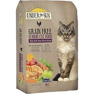 Under the Sun Grain-Free Senior Chicken Recipe Dry Cat Food, 10-lb bag