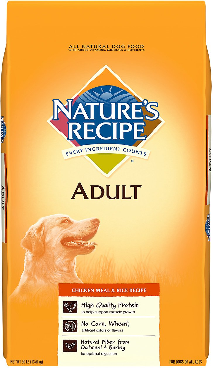 Natures recipe adult chicken meal rice recipe dry dog food 30 video forumfinder Choice Image