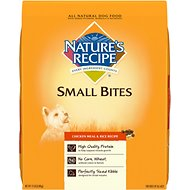 Nature's Recipe Small Bites Chicken Meal & Rice Recipe Dry Dog Food, 15-lb bag